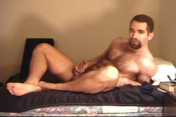 Sexy Hairy Man With Goatee Shows You His Hard Curved Cock!